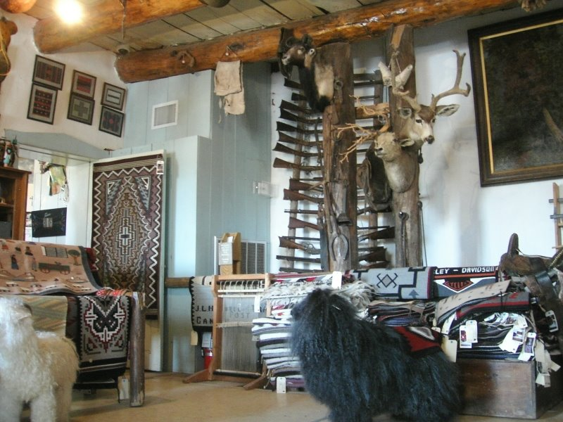 Back room display of native crafts - Hubbel Trading Post