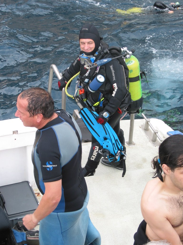 Laszlo at the end of the dive