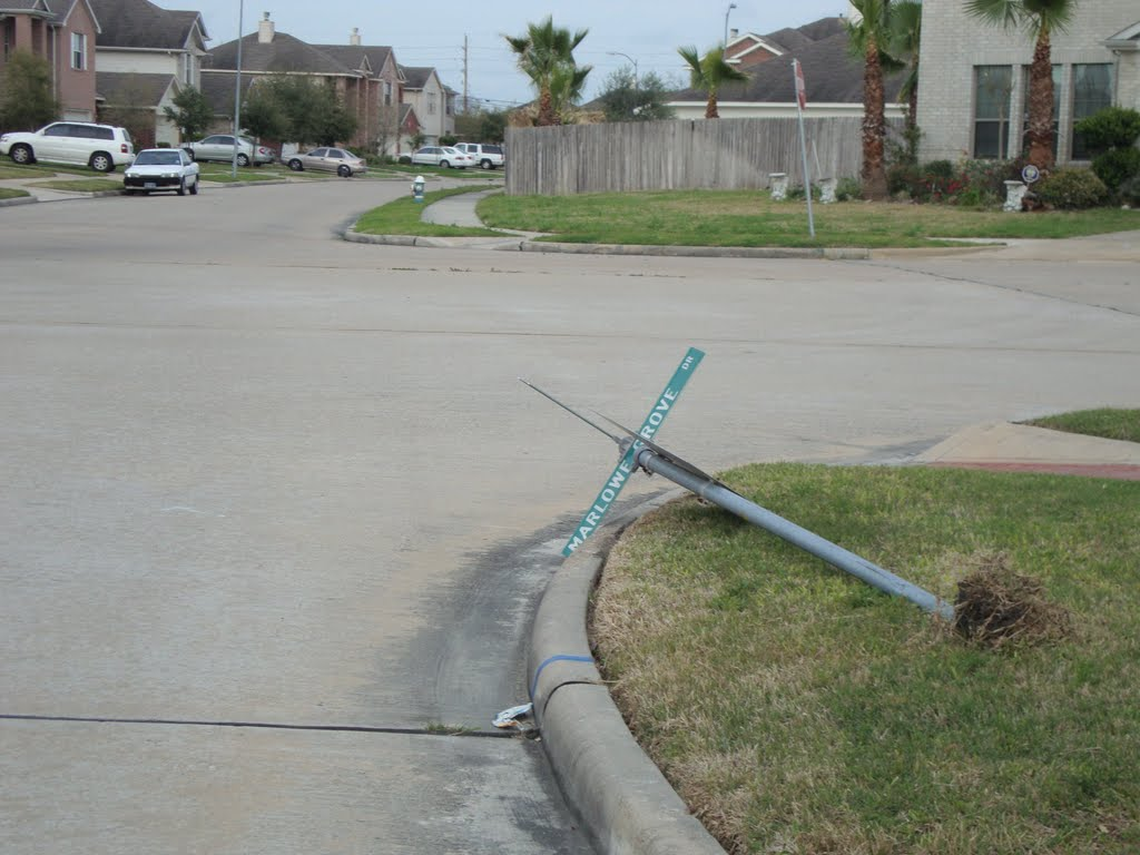 Dropped Stop sign