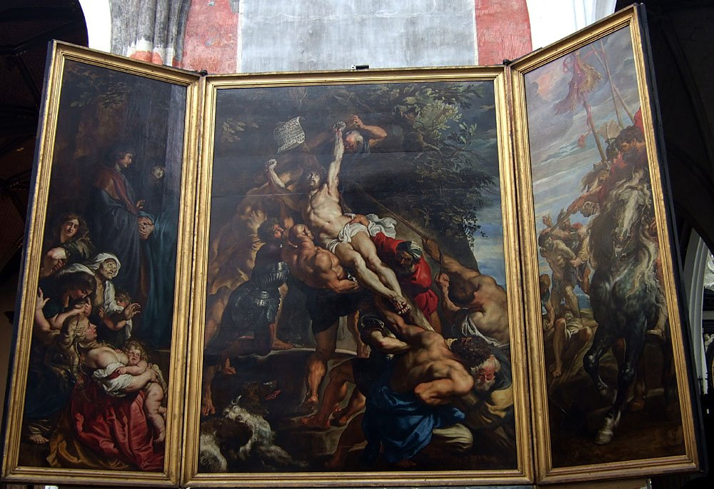 Rubens paints at the Cathedral of Our Lady