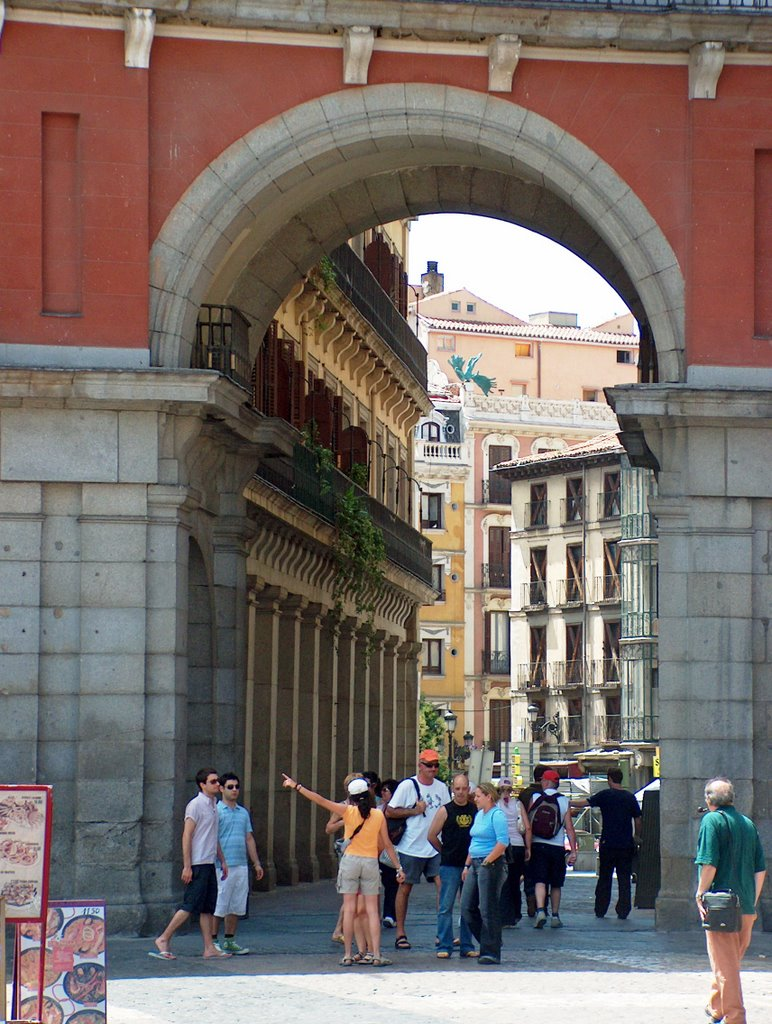 View to Calle Mayor from Plaza Mayor