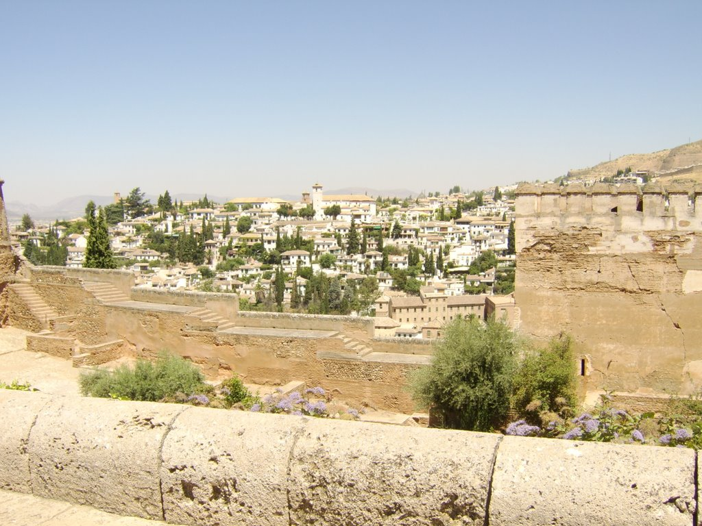 Alhambra, view of Summer Palace