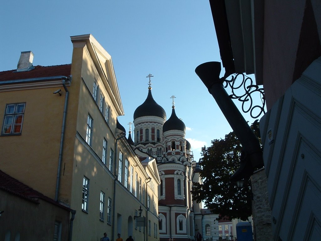 View on Alexander Nevsky Cathedral from Pikk jalg