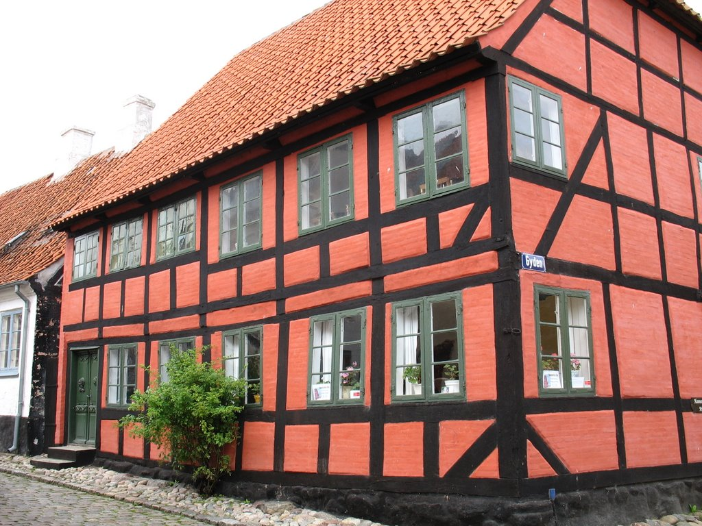 Red Building in Ærøskøbing