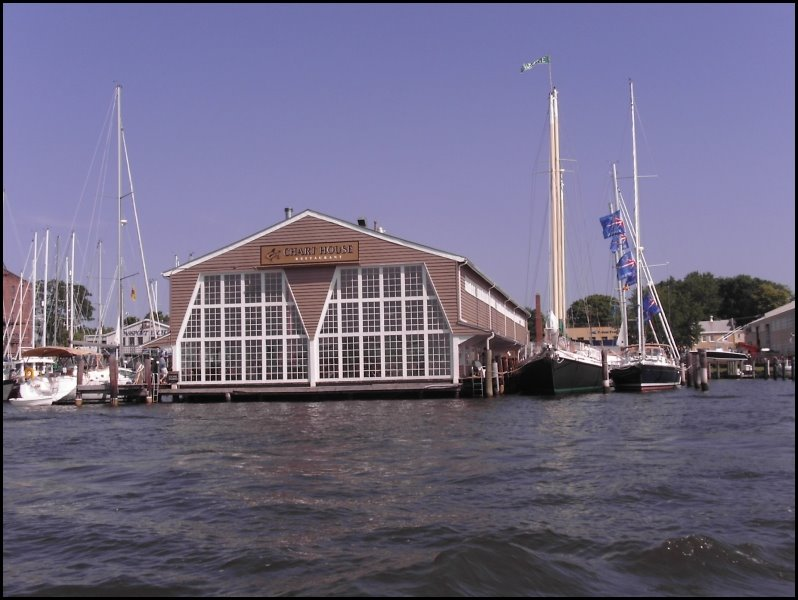 Chart House Restaurant, by water taxi