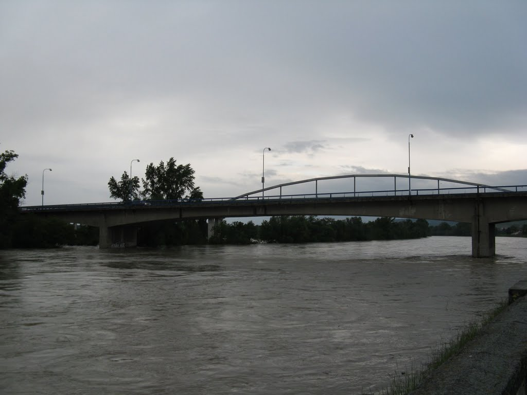 2nd degree of flood activity in Hlohovec