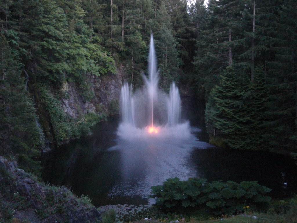 The Ross Fountain at Butchart Gardens