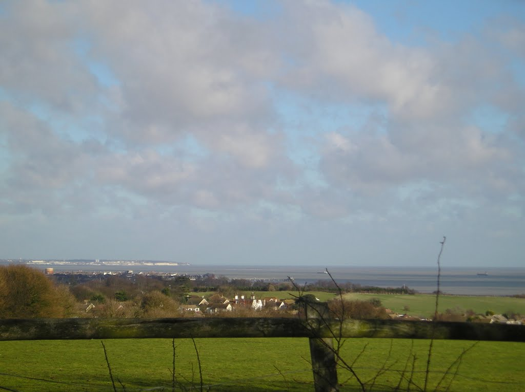Kingsdown & The English Channel (Ramsgate in the distance)