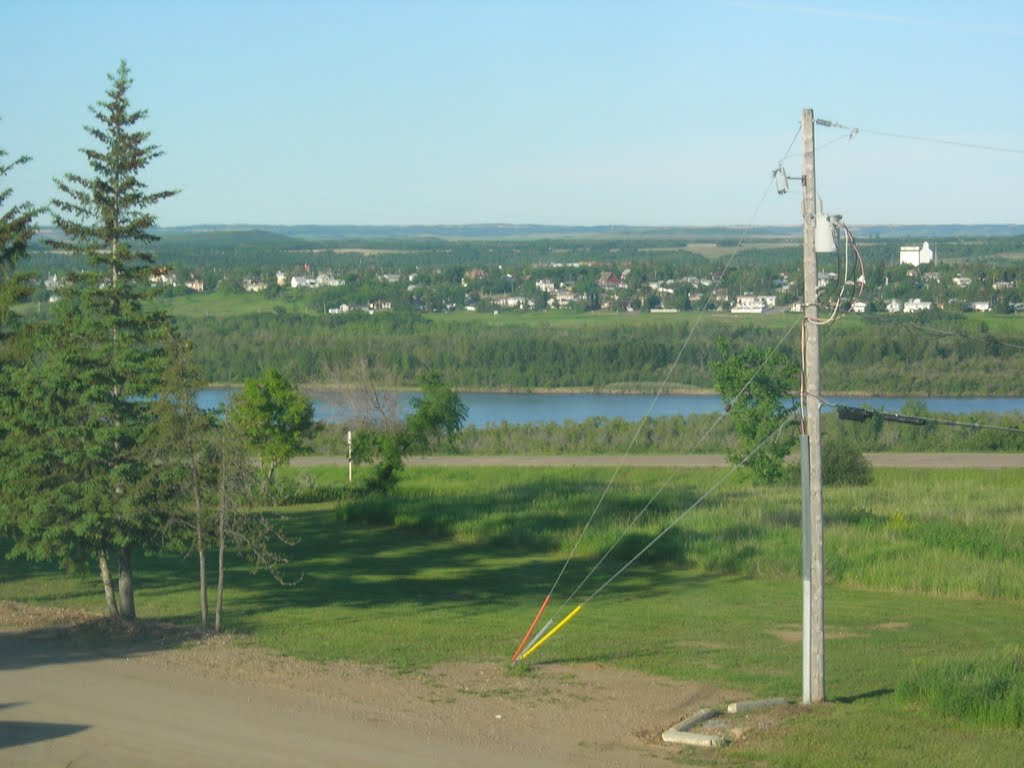 Looking to South Battleford near the old crossing