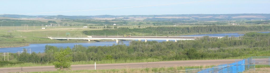 Highway 16 Crossing the North Saskatchewan River at the Battlefords