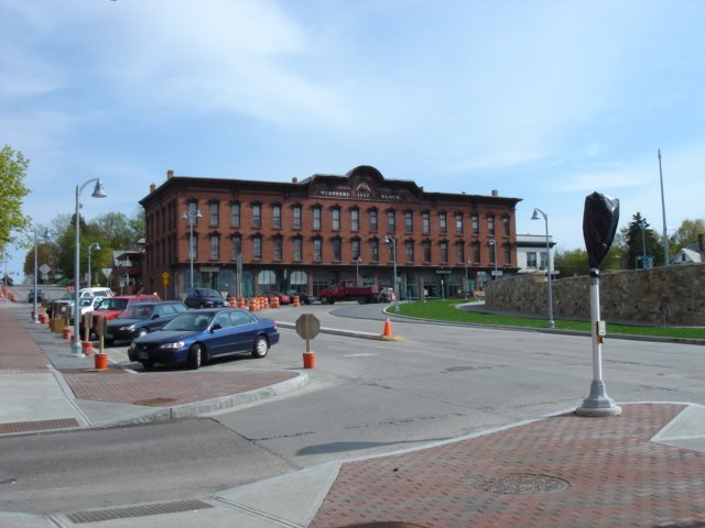 Winooski Block, from in front of Sneakers