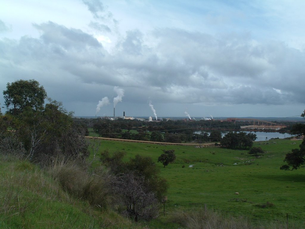 Alcoa Wagerup View Towards Refinery From the Hills | Mapio net