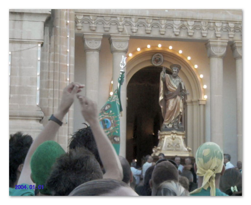 Saint Peter's feast celebrated on the first Sunday of August in Birzebbugia, Malta. Photo Taken by Maria Macelli 2007