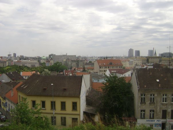 View of Bratislava from train