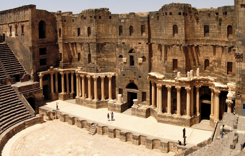 Bosra - Panorama of the amphitheater