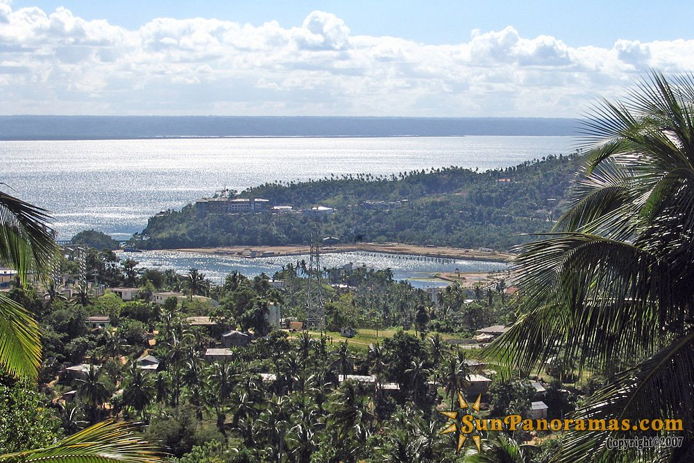 View on Samana City from the the top