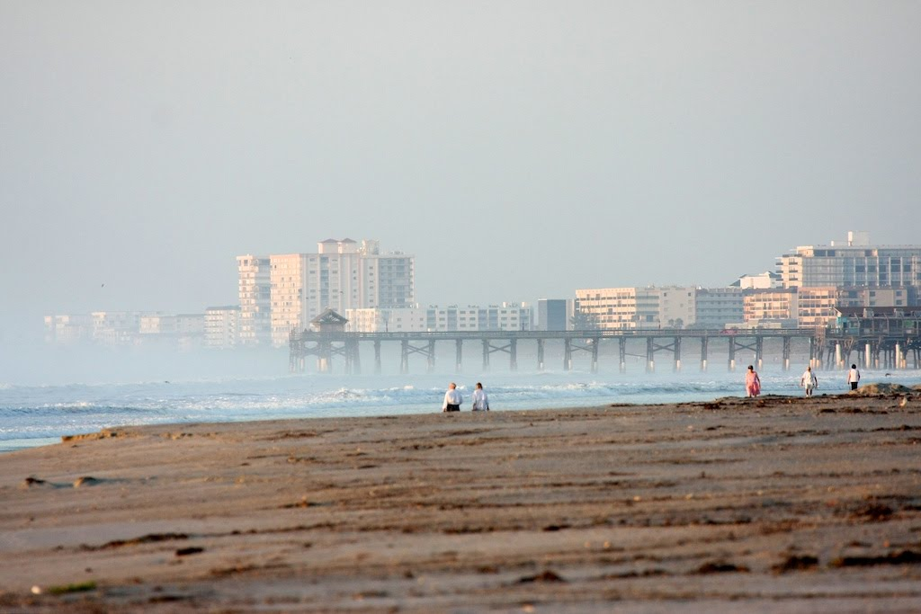 Looking south toward the Cocoa Beach Pier during the Hurricane Earl Swell.
