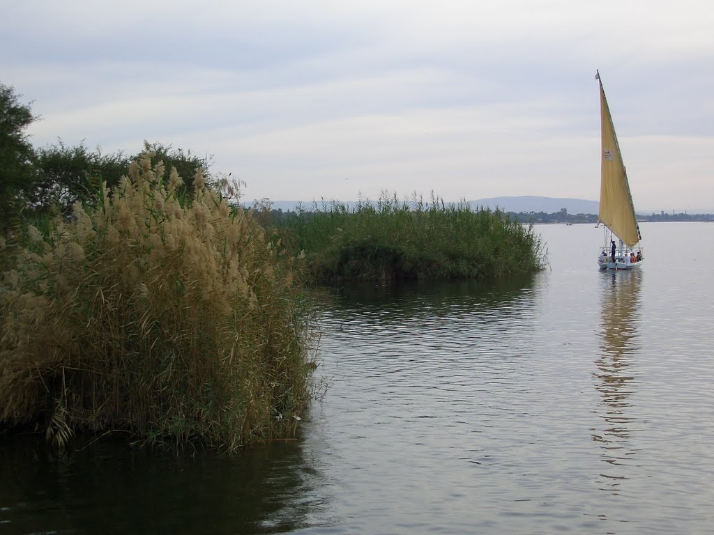 Nile near Luxor with Dhow