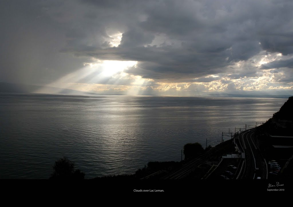 Clouds over Lac Leman, from Rivaz, Vaud.