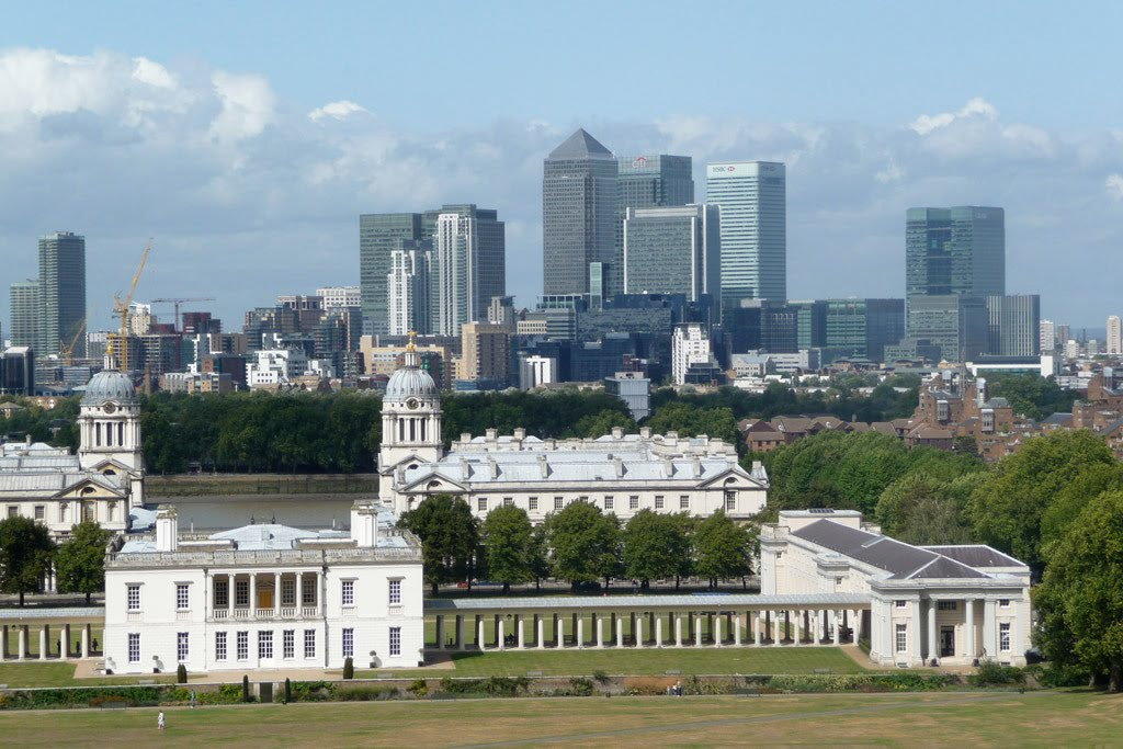 London - Canary wharf from greenwich