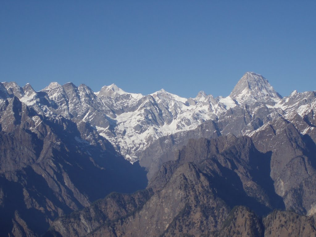 The Himalayan view from Auli