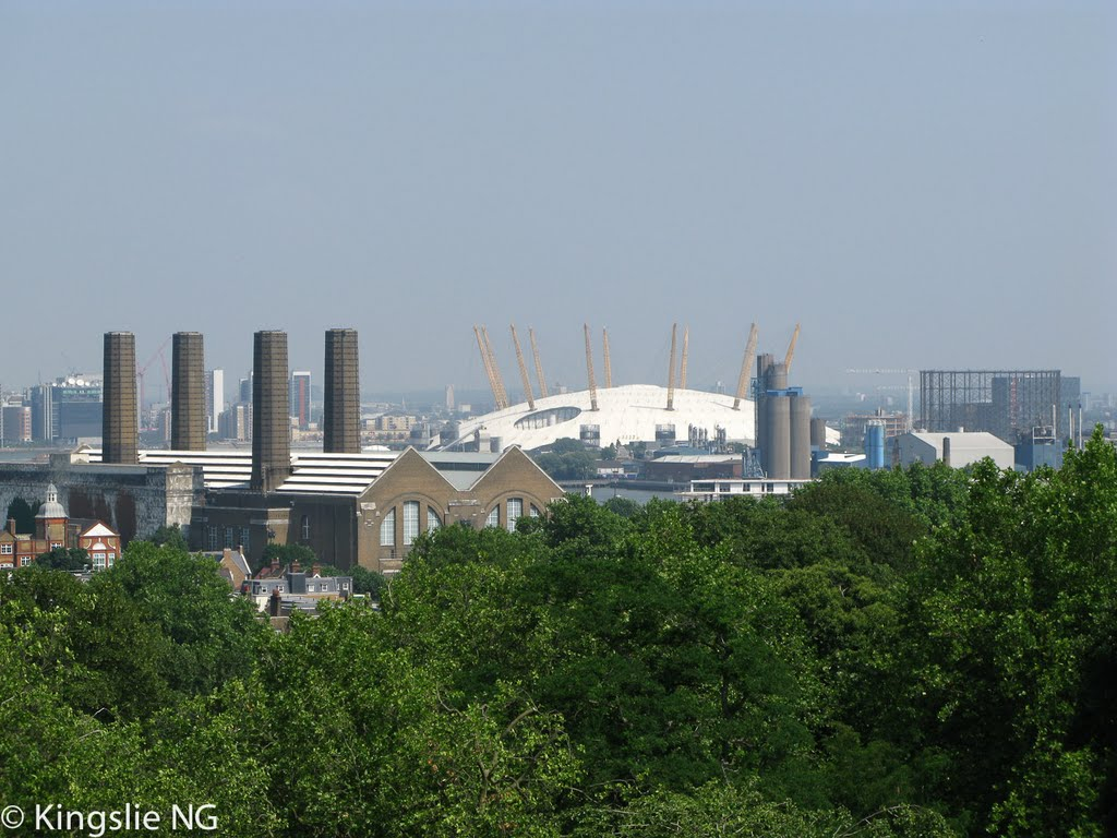 Millennium Dome, viewing from Royal Observatory Greenwich