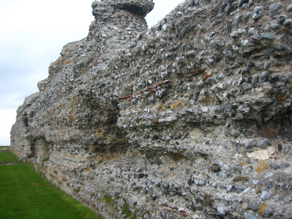 Roman Wall at Richborough Saxon Shore fort