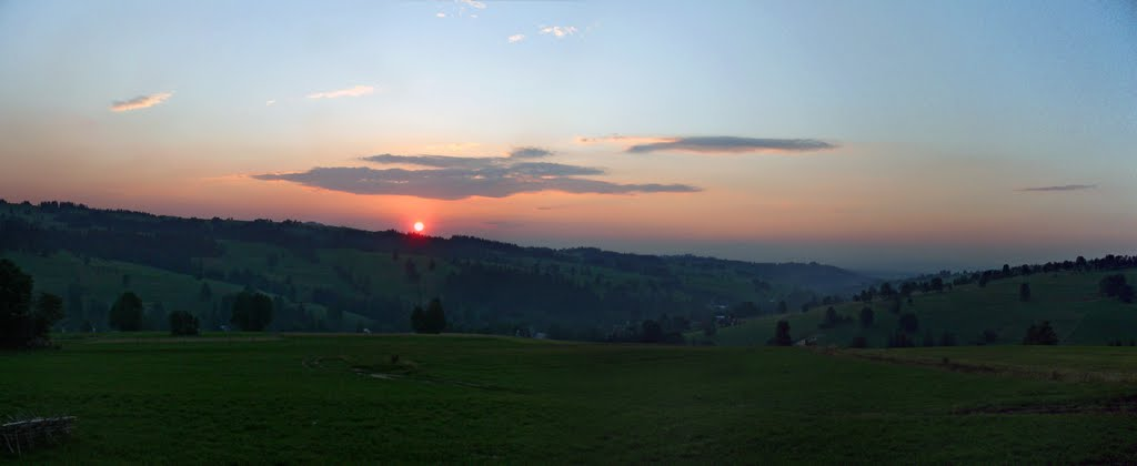 Sunset above Nowe Bystre