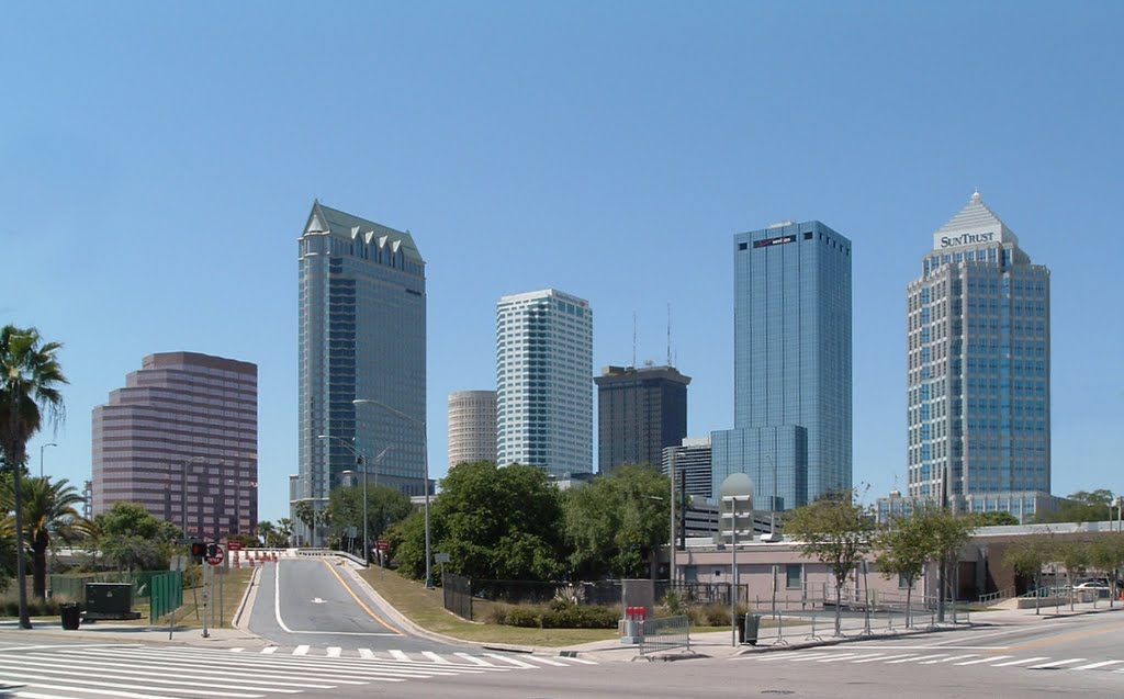 Downtown Tampa from Morgan St. and Channelside Drive, 2004