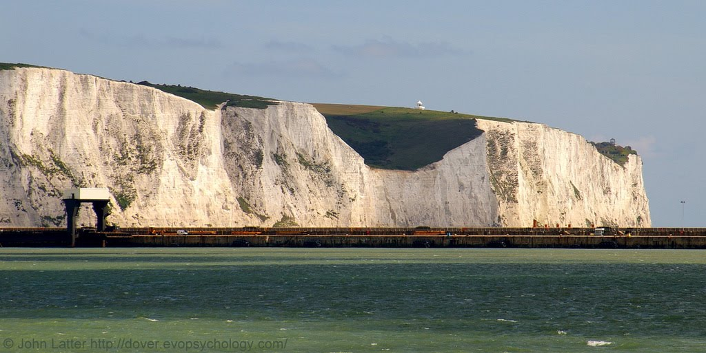 White Cliffs of Dover Panorama in Sunlight and Shadow, Kent, United Kingdom