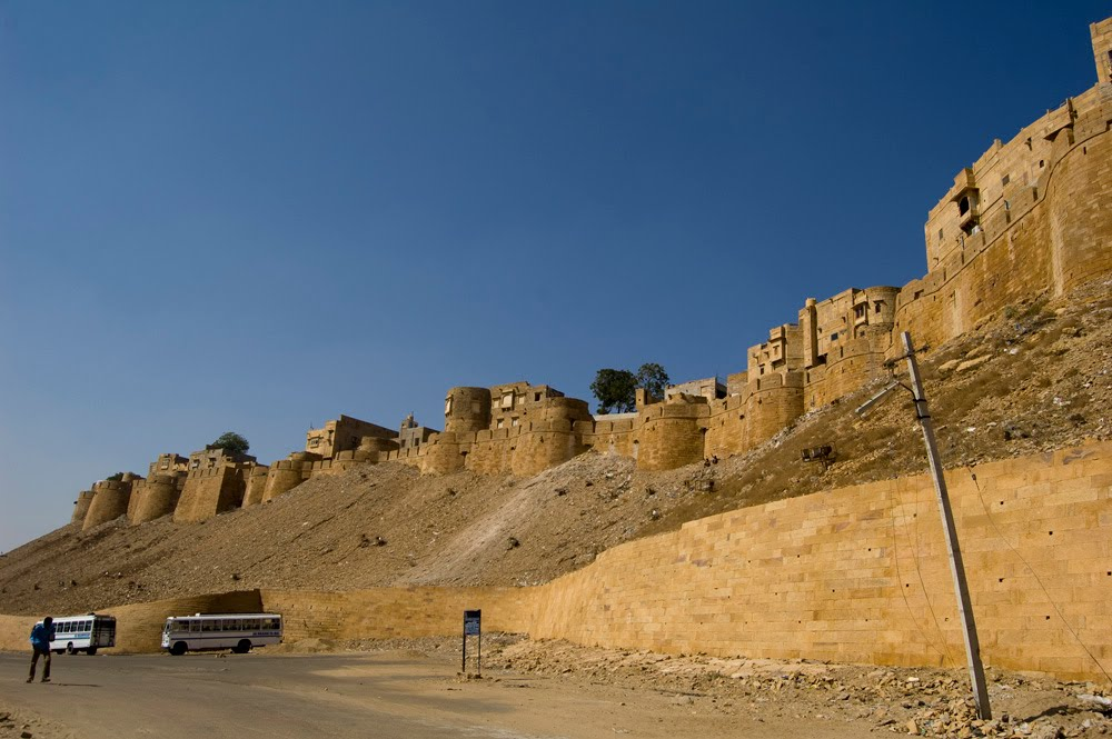 Beatiful view of the fort of Jaisalmer