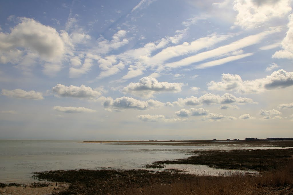View across the mouth of the river Stour, Pegwell Bay