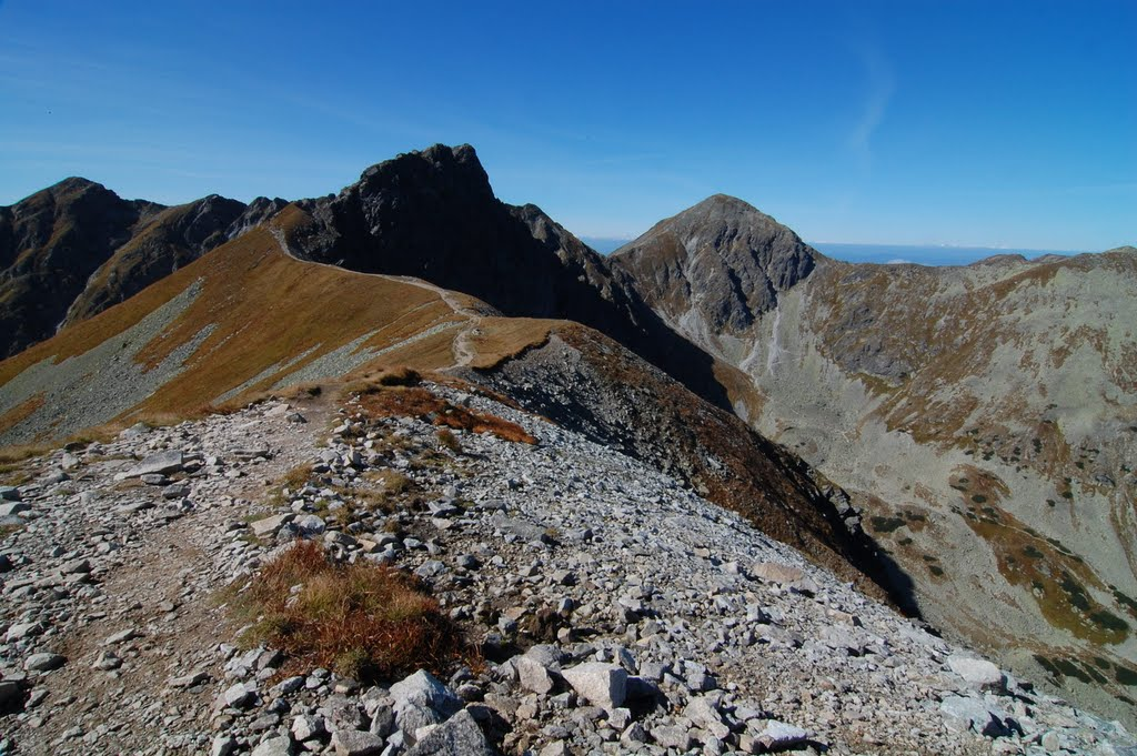 The West Tatras ridge as seen from Hrubá kopa
