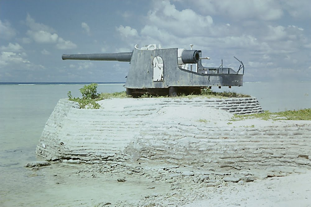 Armstrong Whitworth 8'' Naval Guns - Causeway to Betio