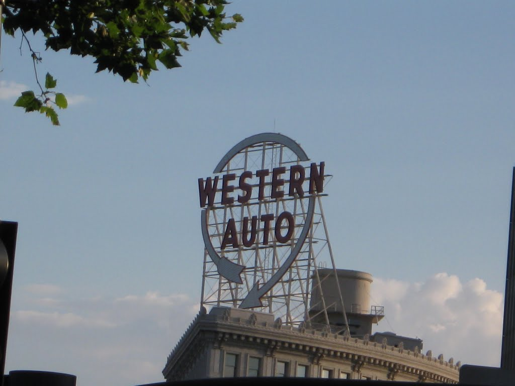 Western Auto Sign Kansas City Mapionet