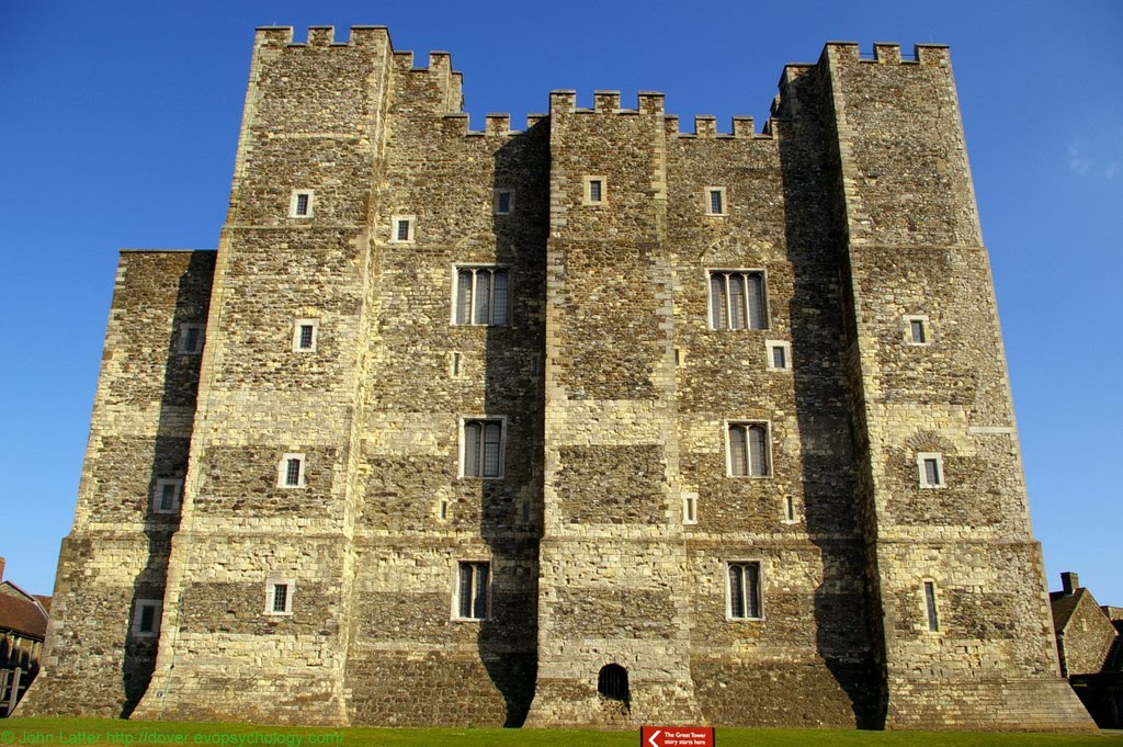 The Keep, or Great Tower, of Dover Castle from the King's Gateway, Kent, UK