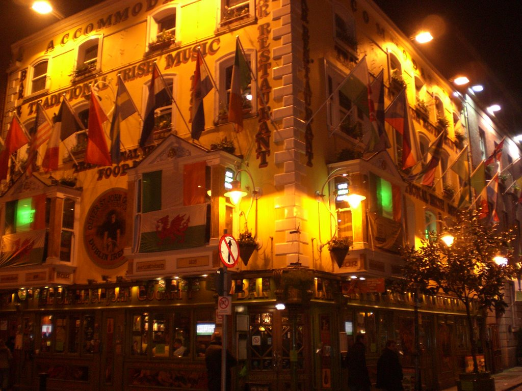 Dublin - Temple bar at night