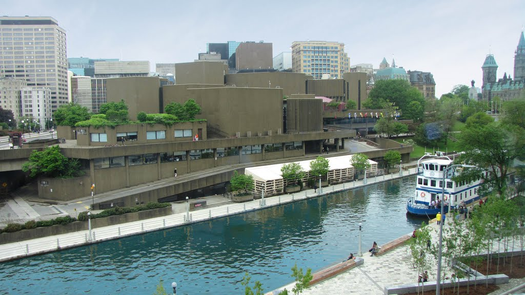 Rideau Canal. View from Laurier St Bridge. (Ottawa, Ontario, CANADA)