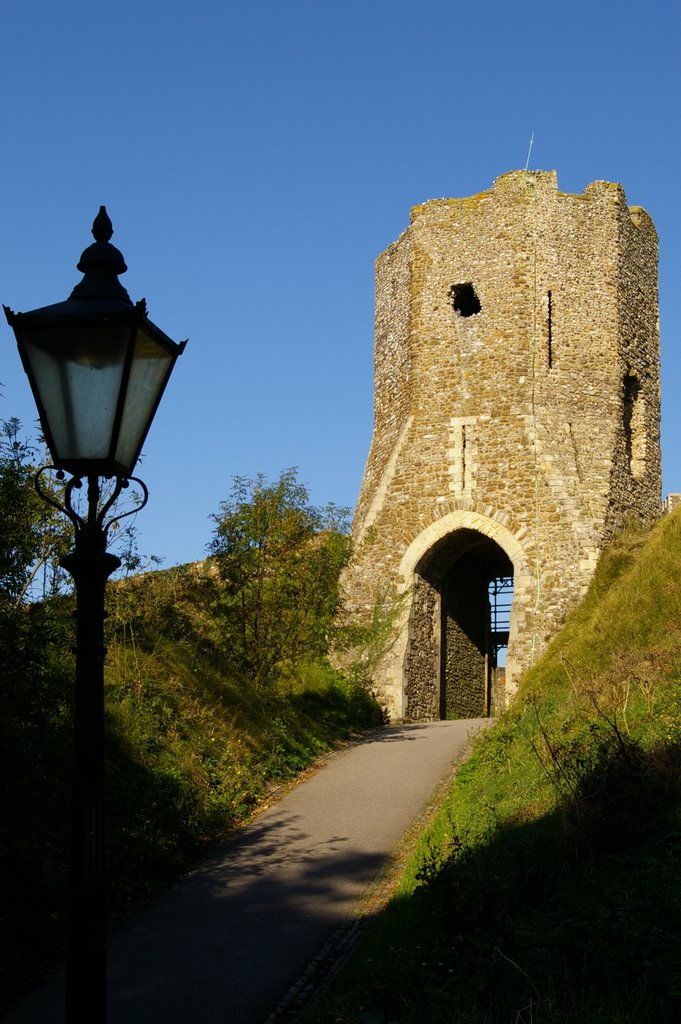Medieval Colton Gate or Tower, Harold Earthwork, Dover Castle, Kent, UK