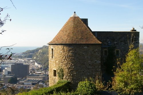 Peverell's Gateway Round Tower,  Western Outer Curtain Wall, Dover Castle, Kent, UK