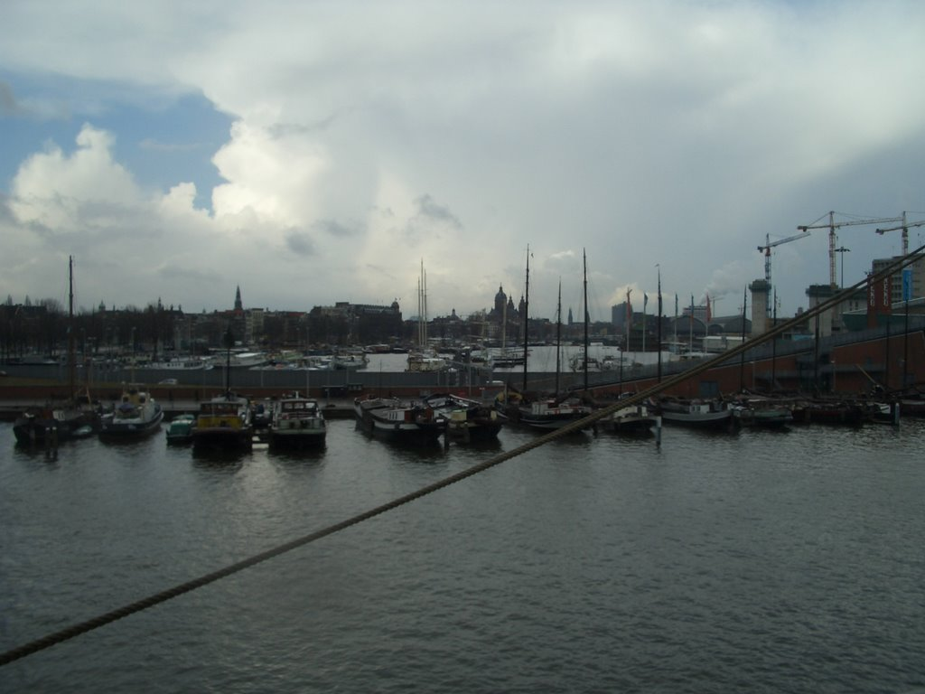 amsterdam central from the ship