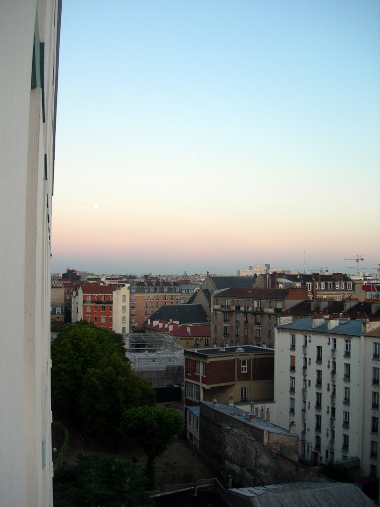 View towards Church of Saint-Vincent de Paul from Youth Hostel Léo Lagrange in Clichy