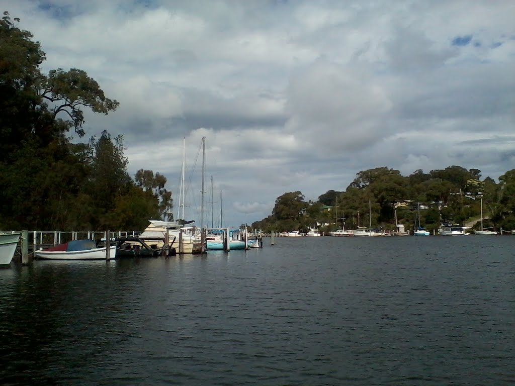 Boat Jetties near Metung, Gippsland Lakes, Victoria, Australia