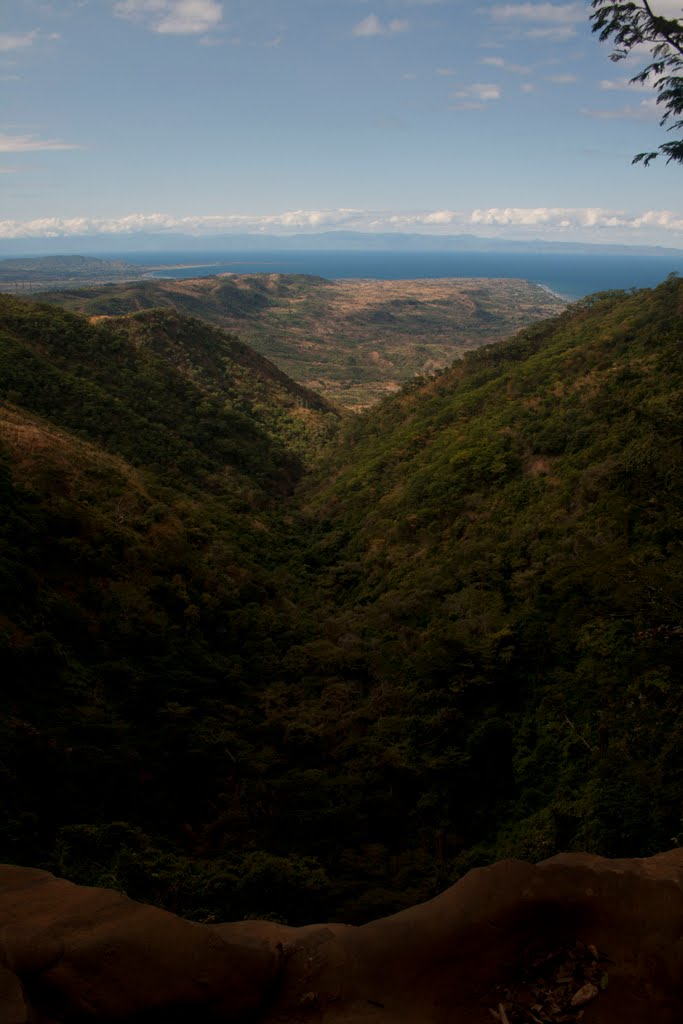 View of Lake Malawi along valley from Manchewe Falls - Livingstonia