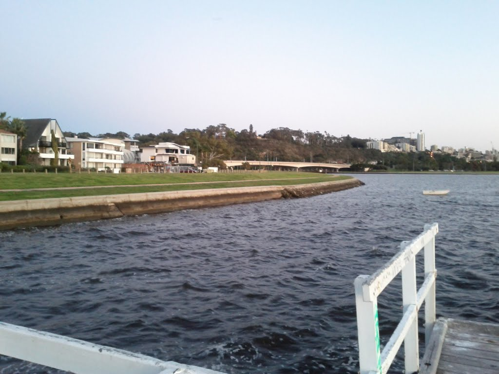 Facing Kings Park from the Jetty!