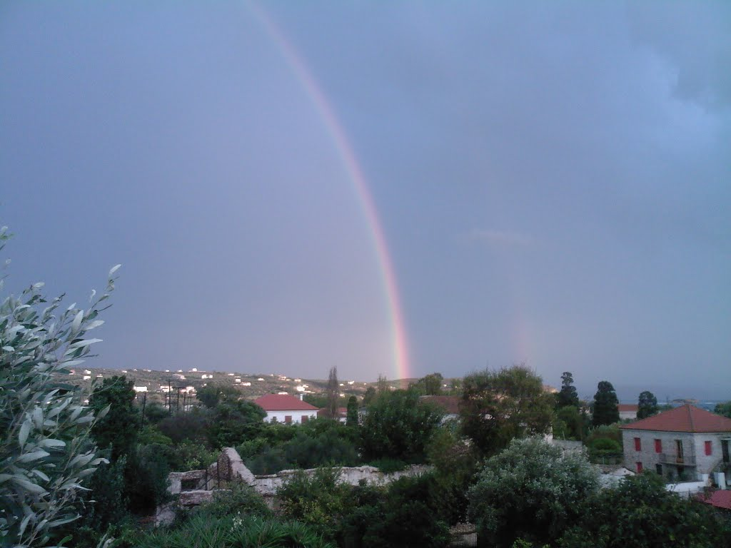 double rainbow (balkony view to south east)