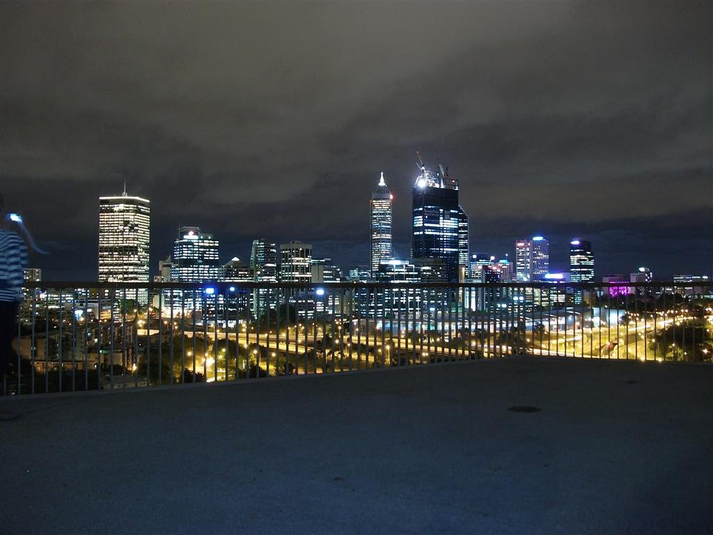Kings Park - City Skyline at night From Lookout