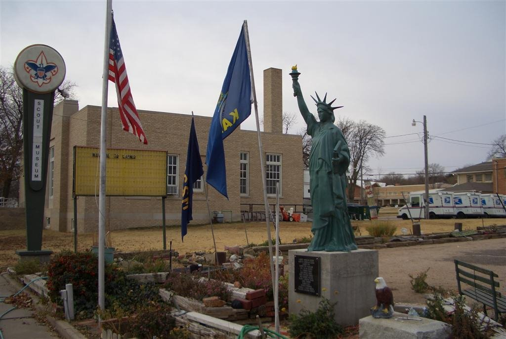 Statue of Liberty reproduction at Central States Scout Museum, Larned, KS