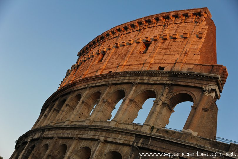 last evening light on the colosseum