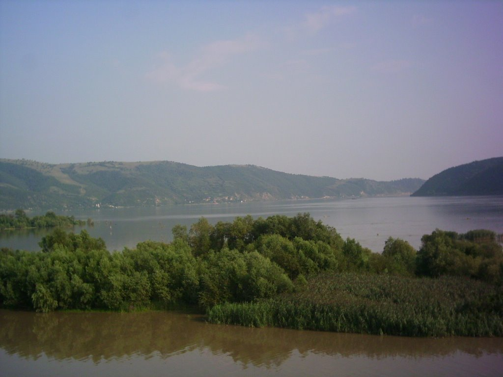 The entrance in iron gates of Danube(Djerdap)